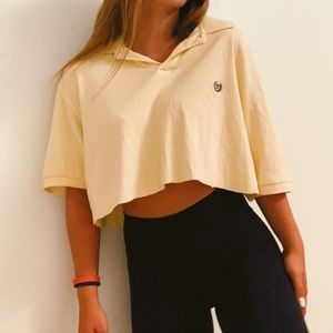 CHAMPS cropped polo!!!!